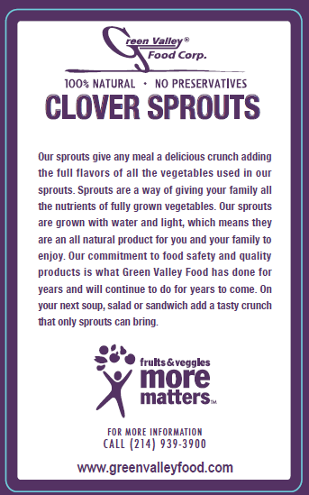 Green Valley Food Corp. CLOVER SPROUTS