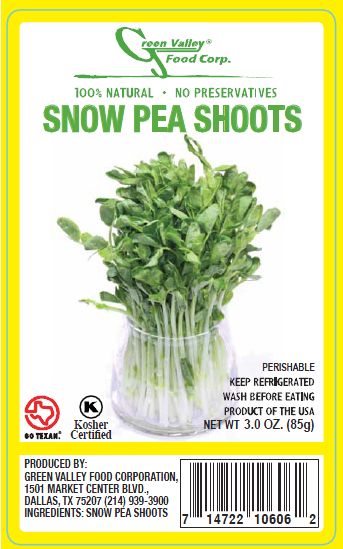 Green Valley Food Corp. SNOW PEA SHOOTS