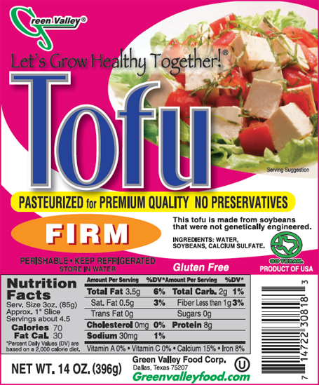 Green Valley Food Corp. TOFU - FIRM