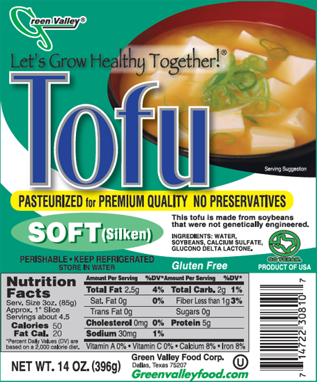Green Valley Food Corp. TOFU - SOFT
